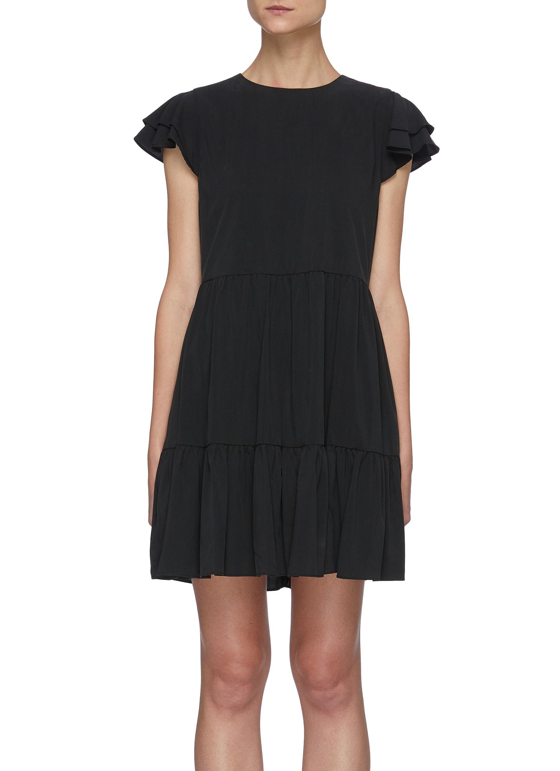 Demi' flutter sleeve babydoll dress - ALICE + OLIVIA - Modalova