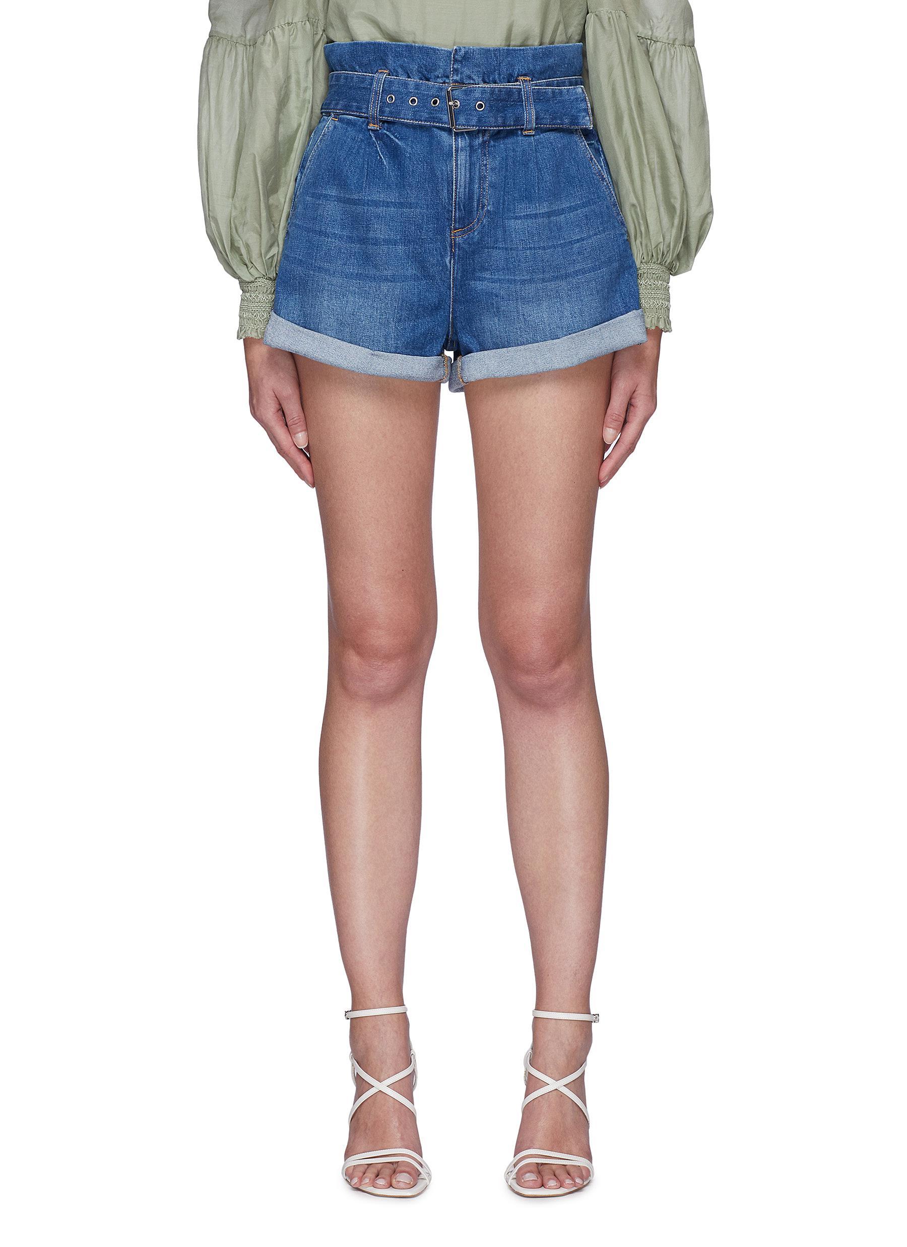 Rosemary' belted paperbag denim shorts - ALICE + OLIVIA - Modalova