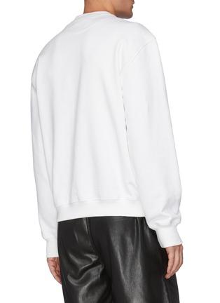 Back View - Click To Enlarge - PRADA - Oversized Chest Logo Sweatshirt