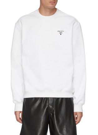 Main View - Click To Enlarge - PRADA - Oversized Chest Logo Sweatshirt