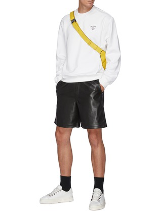 Figure View - Click To Enlarge - PRADA - Oversized Chest Logo Sweatshirt