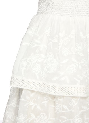 - ALICE + OLIVIA - 'Jojo' Floral Embroidered Double Layer Ruffle Mini Skirt