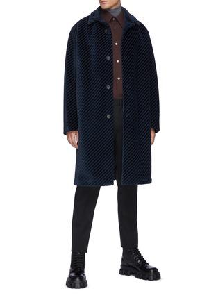 Figure View - Click To Enlarge - PRADA - Corduroy coat