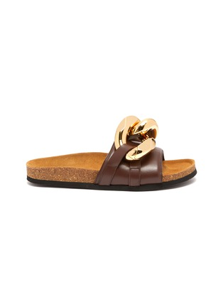Main View - Click To Enlarge - JW ANDERSON - Chunky chain leather slides
