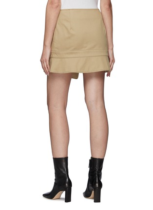 Back View - Click To Enlarge - MONSE - Upside Down Trench Coat Mini Skirt