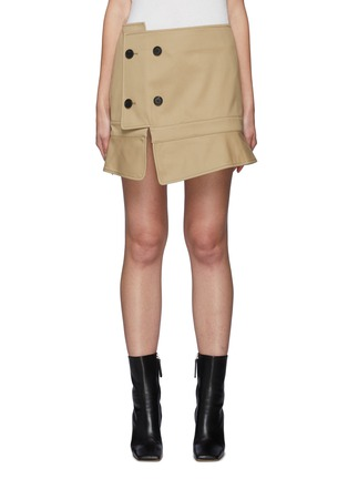 Main View - Click To Enlarge - MONSE - Upside Down Trench Coat Mini Skirt