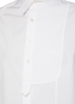 - MONSE - Asymmetric Sleeveless Cotton Poplin Shirt