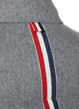 - THOM BROWNE - Reversible Back Tricolour Stripe Wool Cashmere Blend Puffer Jacket