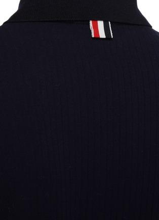 - THOM BROWNE - High Twist Rib Polo Shirt