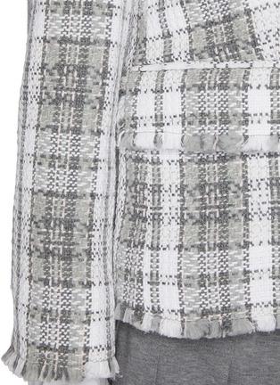 - THOM BROWNE - Frayed Edge Tartan Check Single-breast Tweed Blazer