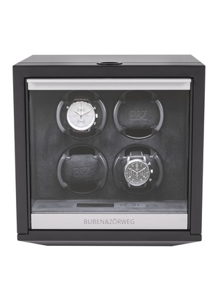 Main View - Click To Enlarge - BUBEN&ZÖRWEG - NEO 4 TIME MOVER® Watch Winder – Matte Carbon
