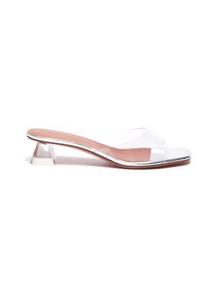 Main View - Click To Enlarge - AMINA MUADDI - 'Lupita' Transparent glass heeled sandals