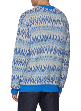 Back View - Click To Enlarge - MONCLER - Fair Isle Crewneck Sweater
