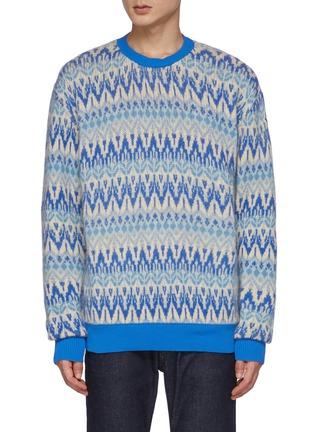Main View - Click To Enlarge - MONCLER - Fair Isle Crewneck Sweater