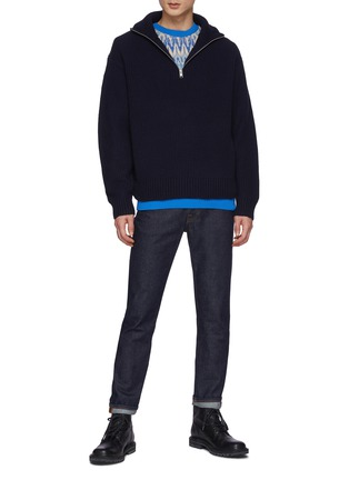 Figure View - Click To Enlarge - MONCLER - Fair Isle Crewneck Sweater