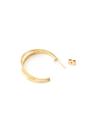 Detail View - Click To Enlarge - PHILIPPE AUDIBERT - Gibson' 24k gold-plated hoop earrings