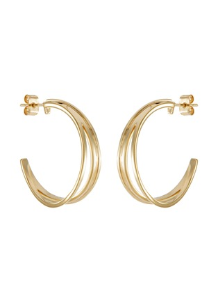 Main View - Click To Enlarge - PHILIPPE AUDIBERT - Gibson' 24k gold-plated hoop earrings