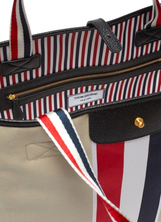 Detail View - Click To Enlarge - THOM BROWNE - Tricolour Detail Canvas Tote