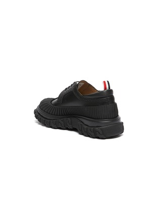 - THOM BROWNE - 'Longwing' Mudguard Overlay Leather Derby Shoes