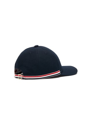 Figure View - Click To Enlarge - THOM BROWNE - Embroidered Bear Tricolour Stripe Cap