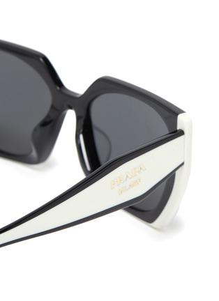 Detail View - Click To Enlarge - PRADA - Oversized Angular Acetate Frame Sunglasses