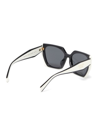 Figure View - Click To Enlarge - PRADA - Oversized Angular Acetate Frame Sunglasses