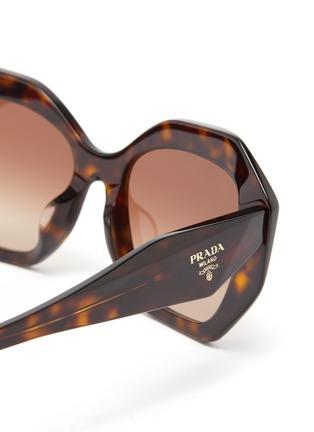 Detail View - Click To Enlarge - PRADA - 'Symbole' Oversized Angular Acetate Frame Sunglasses