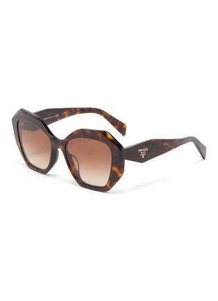 Main View - Click To Enlarge - PRADA - 'Symbole' Oversized Angular Acetate Frame Sunglasses