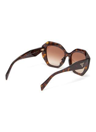 Figure View - Click To Enlarge - PRADA - 'Symbole' Oversized Angular Acetate Frame Sunglasses