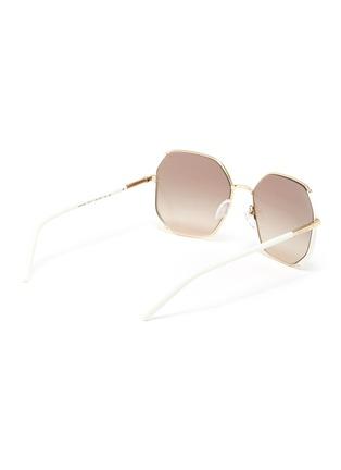 Figure View - Click To Enlarge - PRADA - Contrast Temple Angular Metal Frame Sunglasses