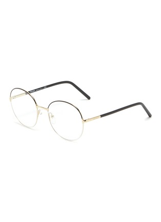Main View - Click To Enlarge - PRADA - Contrast Temple Round Metal Frame Optical Glasses