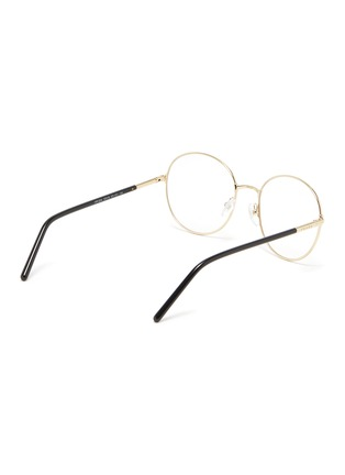 Figure View - Click To Enlarge - PRADA - Contrast Temple Round Metal Frame Optical Glasses