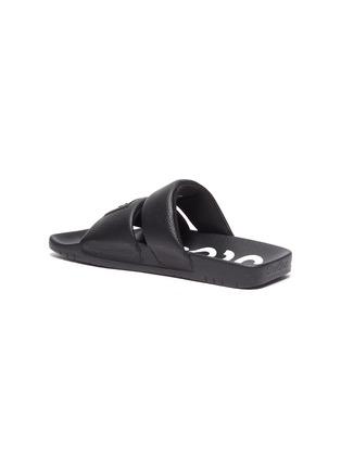 - ACNE STUDIOS - Face Logo Patch Square Toe Leather Sandals