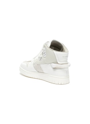 - ACNE STUDIOS - Face Motif Charm High Top Leather Sneakers