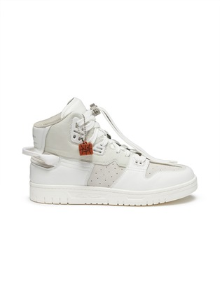 Main View - Click To Enlarge - ACNE STUDIOS - Face Motif Charm High Top Leather Sneakers