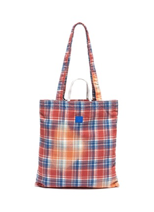 Main View - Click To Enlarge - ACNE STUDIOS - Face Patch Plaid Tote
