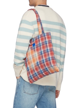 Figure View - Click To Enlarge - ACNE STUDIOS - Face Patch Plaid Tote