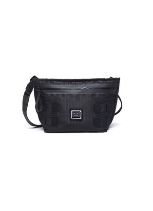 Main View - Click To Enlarge - ACNE STUDIOS - Face Plaque Nylon Mini Messenger Bag