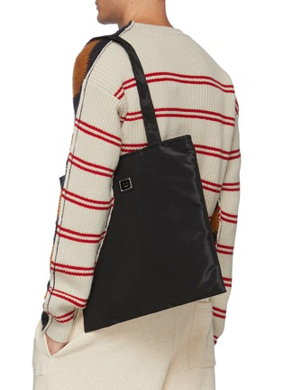 Front View - Click To Enlarge - ACNE STUDIOS - Face Plaque Nylon Tote