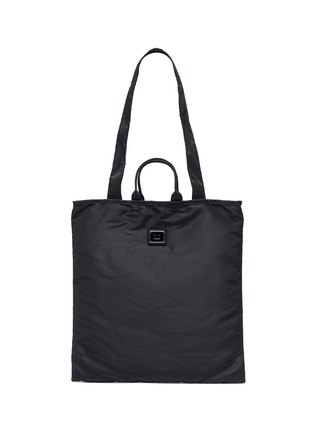 Main View - Click To Enlarge - ACNE STUDIOS - Face Plaque Nylon Tote