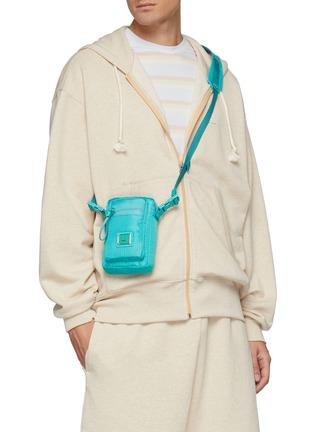 Figure View - Click To Enlarge - ACNE STUDIOS - Face Plaque Nylon mini crossbody bag