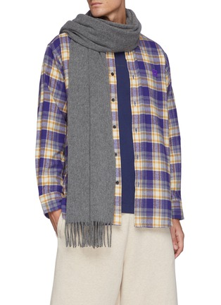 Figure View - Click To Enlarge - ACNE STUDIOS - FRINGED WOOL SCARF