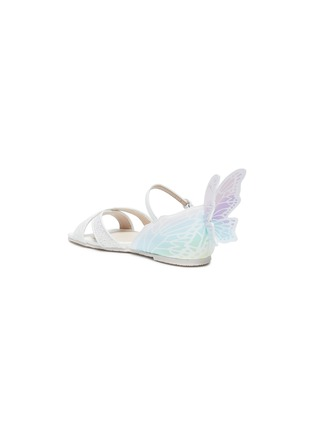 Detail View - Click To Enlarge - SOPHIA WEBSTER - 'Talulah' Butterfly Motif Glitter Crisscross Strap Kids Sandals