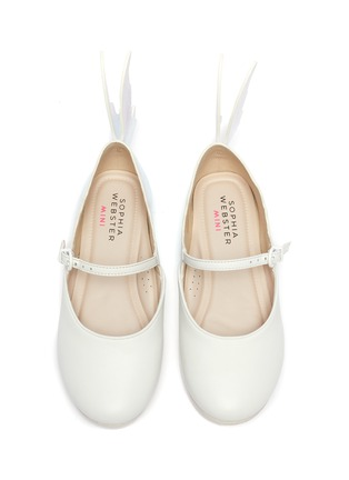 Figure View - Click To Enlarge - SOPHIA WEBSTER - Talulah' Iridescent Butterfly Motif Buckle Strap Kids Leather Flats