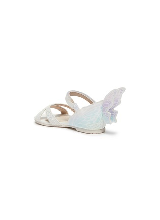 Detail View - Click To Enlarge - SOPHIA WEBSTER - Talulah' Iridescent Butterfly Motif Velcro Strap Toddler Glitter Leather Sandals