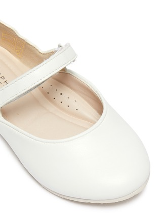 Detail View - Click To Enlarge - SOPHIA WEBSTER - Talulah' Iridescent Butterfly Motif Buckle Strap Toddler Leather Flats
