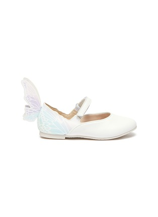 Main View - Click To Enlarge - SOPHIA WEBSTER - Talulah' Iridescent Butterfly Motif Buckle Strap Toddler Leather Flats