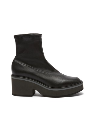 Main View - Click To Enlarge - CLERGERIE - 'Albane' Platform Sole Heeled Leather Boots