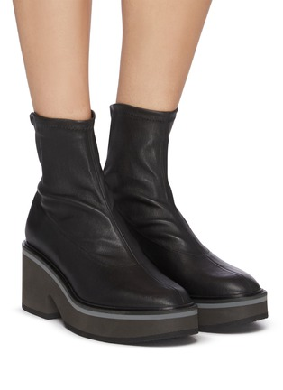 Figure View - Click To Enlarge - CLERGERIE - 'Albane' Platform Sole Heeled Leather Boots