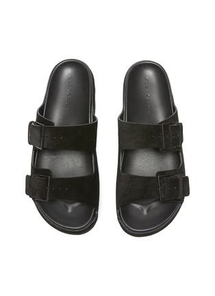 Detail View - Click To Enlarge - CLERGERIE - Esme' Double Strap Suede Platform Sandals